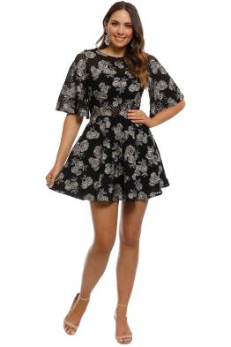 Talulah - Brazen Mini Dress - Black - Front