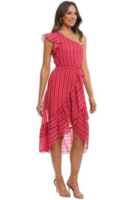 d22b1803790 Talulah - Candy Flounce Midi Dress - Pink - Front