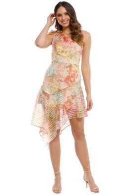 Talulah - Floraison Midi Dress - Vintage Bouquet Print - Front