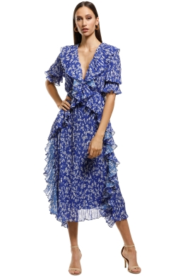 95ebb1ce47f Talulah - Mediterranean Minx Midi Dress - Blue Floral - Front