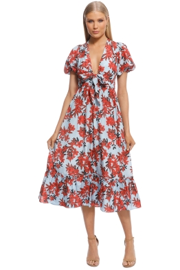 Talulah - Red Sea Midi Dress - Front
