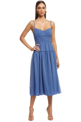 Talulah - Sorrento Midi Dress - Blue - Front