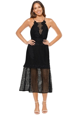 Talulah - Sweet Dreams Midi Dress - Black - Front