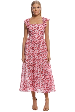 Talulah - Sweet Sol Midi Dress - Pink - Front