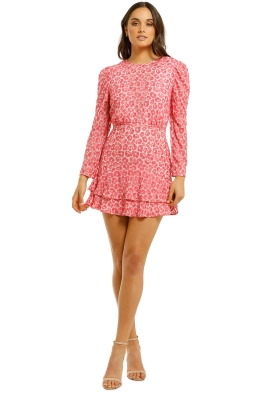 Talulah - The Blossom LS Mini Dress - Pink - Front