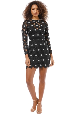Talulah - The Icon LS Mini Dress - Black - Front