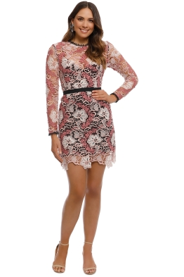 Talulah - The Passion Long Sleeve Mini Dress - Pink - Front