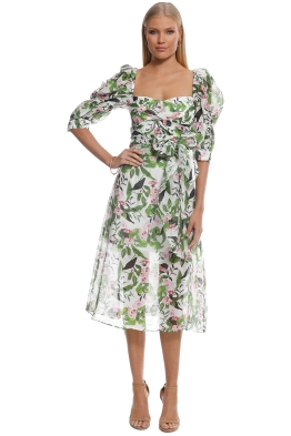 Talulah - Tropo Dreams Midi Dress - Tropical Bloom - Front