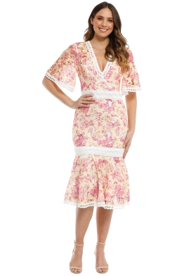 Talulah - Vienna Midi Dress - Wallpaper Rose - Front