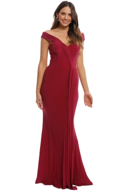 Tania Olsen - Malissa Gown - Berry - Front