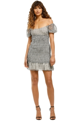 The-East-Order-Lola-Mini-Dress-Monochrome-Front