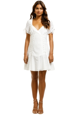 The-East-Order-Saige-Mini-Dress-Classic-White-Front