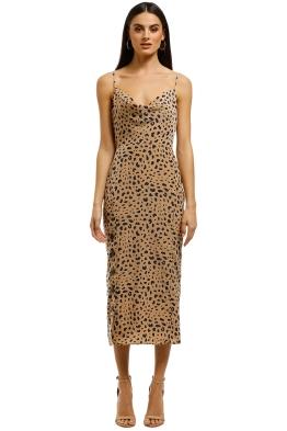The-East-Order-Scarlett-Midi-Dress-Animal-Print-Front