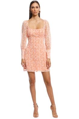 The East Order - Peaches Mini dress - Orange - Front