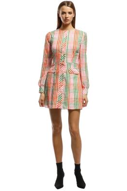 The East Order - Romee LS Mini Dress - Multi - Front