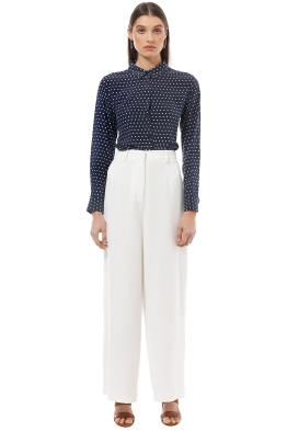 The Fable - Speckled Egg - Navy Polka - Front