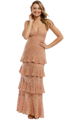 The Jetset Diaries - Rosebay Maxi Dress - Nude - Front