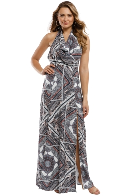 The Jetset Diaries - Skye Maxi Dress - Multi - Front