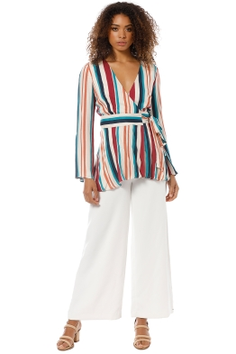 The Jetset Diaries - Virgo Wrap Shirt - Multi - Front