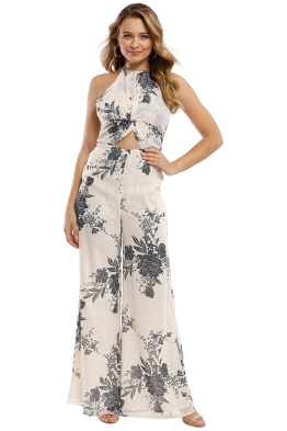 The Jetset Diaries - Wildflower Jumpsuit - Nude Multi - Front