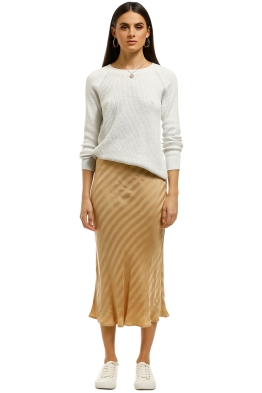 Third-Form-Bias-Midi-Skirt-Tan-Front