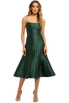 Thurley-Caspian-Dress-Bottle-Green-Front