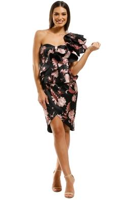 Thurley-Folklore-Print-One-Shoulder-Dress-Black-Front
