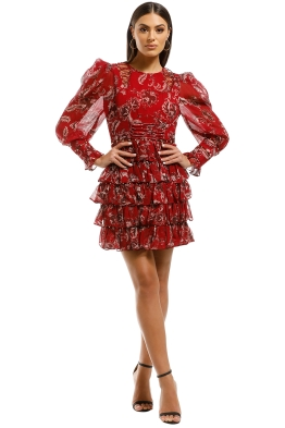 Thurley-Talitha-Dress-Manor-Red-Chintz-Front