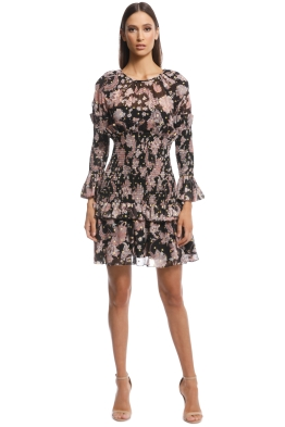 5f6211657024 Thurley - Island Song Mini Print Dress - Black Multi - Front