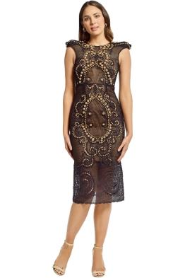 Thurley - Pandora Midi Dress - Black - Front