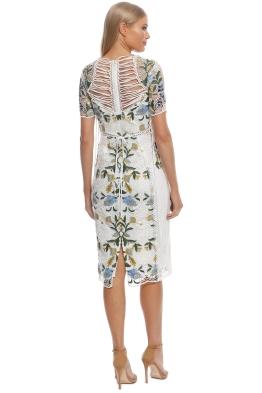 32ab32f0570d Thurley - Vasette Lace Midi Dress - Blue Ivory - Front