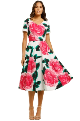 Trelise-Cooper-Go-With-the-Bow-Dress-White Floral-Front