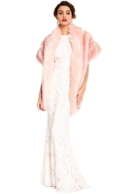 Tulip Bridal - Floella Bridal Stole - Blush Pink - Front