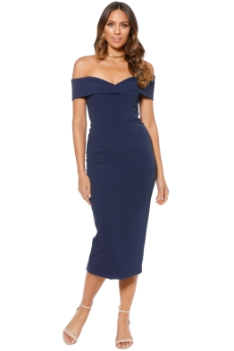 Unspoken - Alexa Midi Dress - Navy - Front