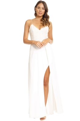 Unspoken - Isle Long Dress - White - Front