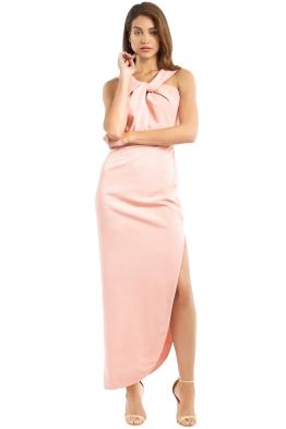 Unspoken - Knot Long Dress - Salmon - Front