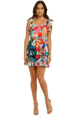 Vestire-Miami-Nights-Mini-Dress-Miami-Print-Front