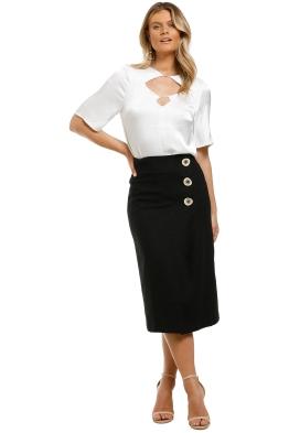 Vestire-Paloma-Midi-Skirt-Black-Front