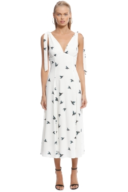 Vestire - Zilara Midi Dress - White Print - Front