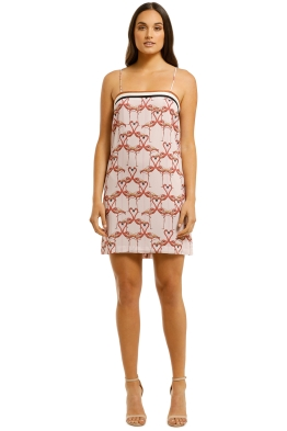 Vestire=Flamingo-Hearts-Mini-Dress-Print-Front