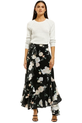 We-Are-Kindred-Clover-Ruffle-Skirt-Black-Camellia-Front