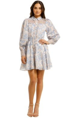 We-Are-Kindred-Sorrento-Mini-Dress-Cornflower-Paisley-Front