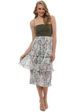 We Are Kindred - Anais Pleatd Tier Skirt - Florist Print - Front