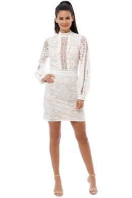 We Are Kindred - Madeliene Ladder Mini Dress - Ivory - Front