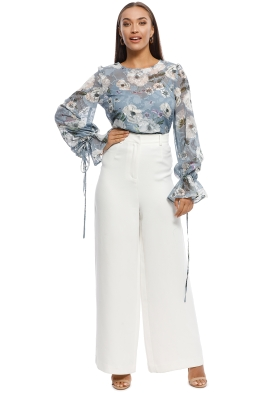 8070713452a We Are Kindred - Tabitha Blouse - Blue - Front