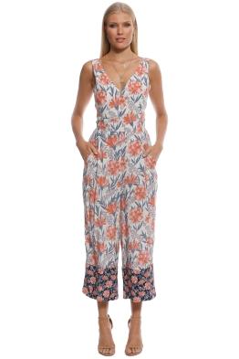 b3778e2c062 Whistle - Floral Border Print Mara Jumpsuit - Print - Front