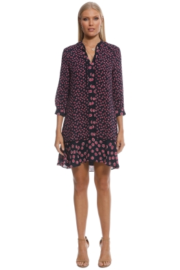 2c41e39b76b Whistles - Lenno Print Shirt Dress - Black - Front