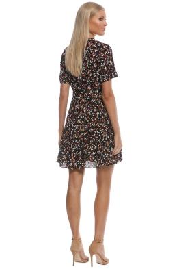 8402b765371 Whistles - Peony Print Pleat Detail Dress - Black - Front
