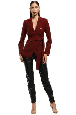 Wish - Songbird Blazer - Wine - Front