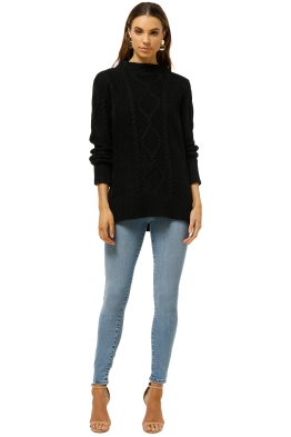 Witchery-Cable-Funnel-Knit-Black-Front